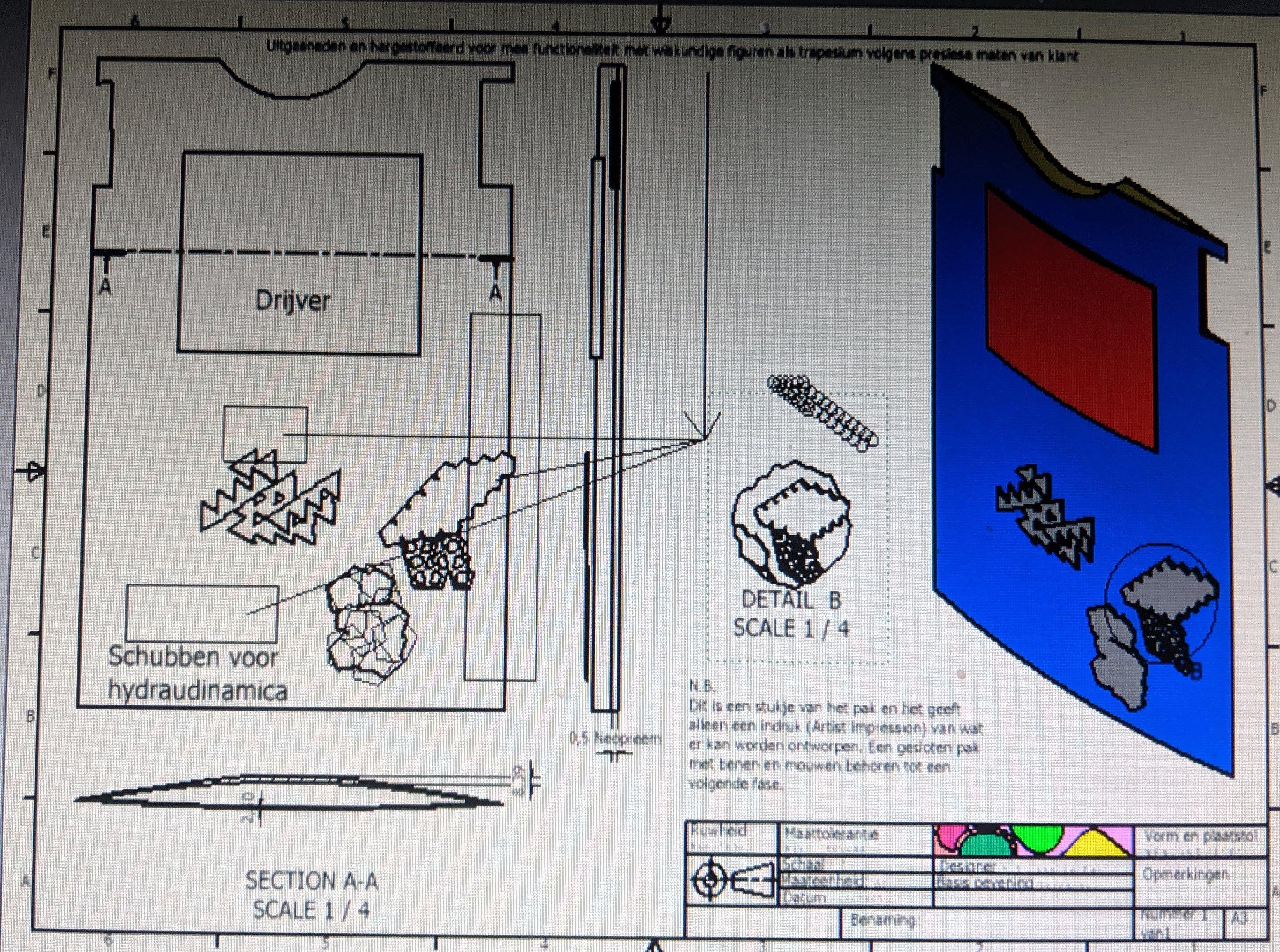 mvdpas ontwerpt duikpak